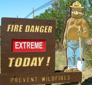 Extreme Fire Danger Warning in Central Oregon